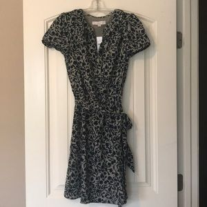 Tan & Blue Loft Floral Print Dress Size XS NWT